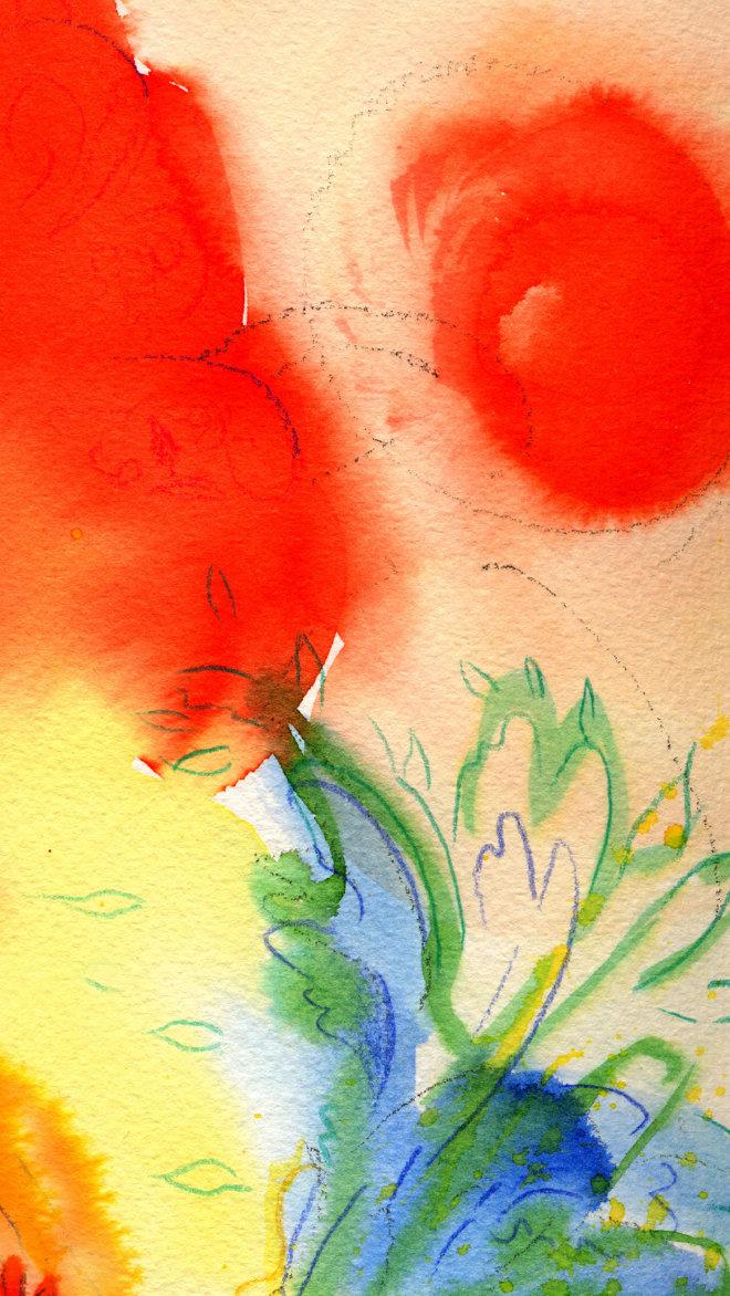 Kunstbild rote Blüte