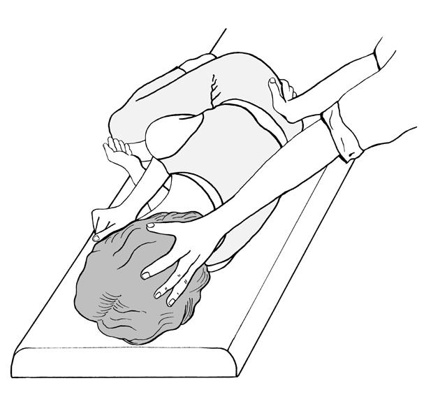 Zeichnung Zweihandgriff Kopf-Kreuzbein