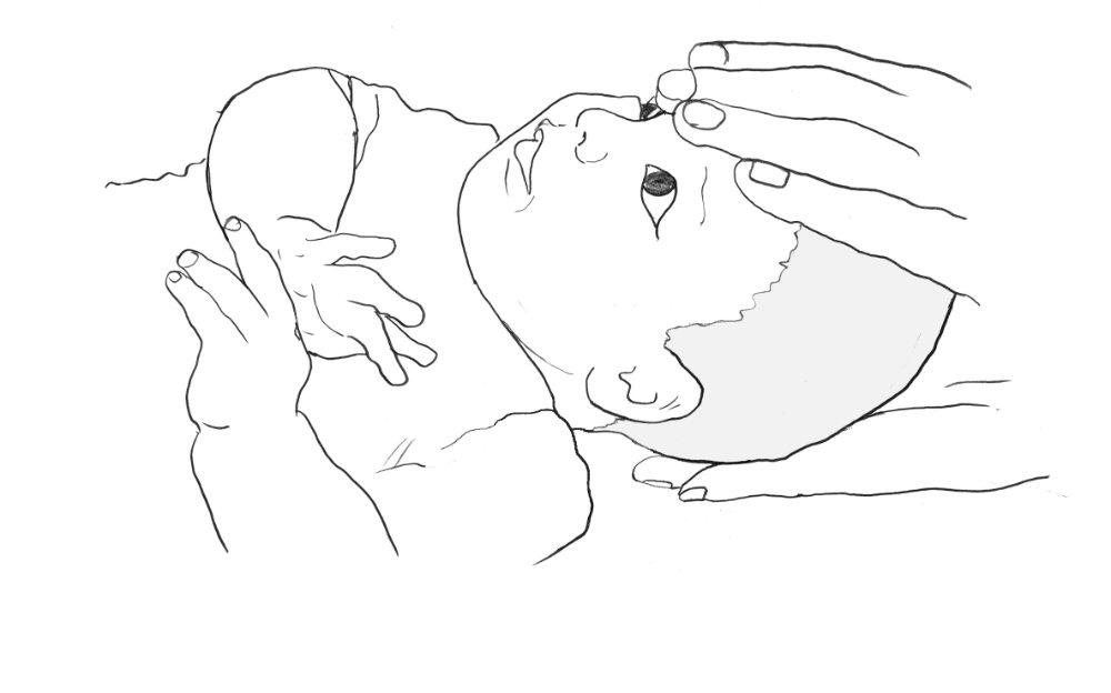 Zeichnung Baby Kopfkontakte